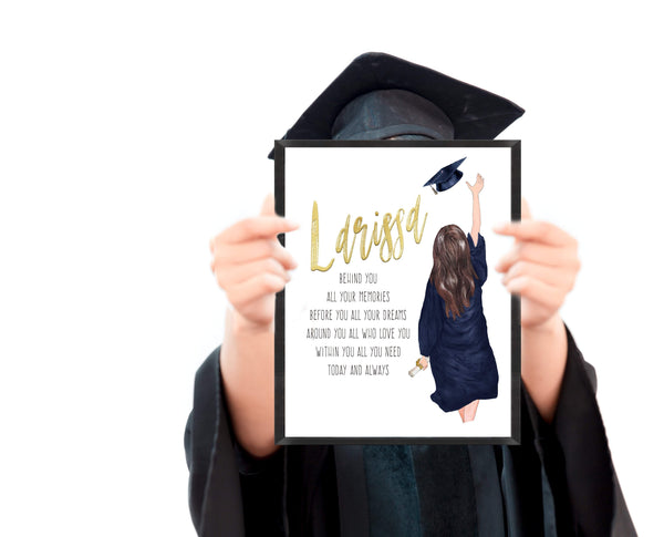 Graduation Gifts For Her Ideas | Graduation Poem Print | Ollie + Hank