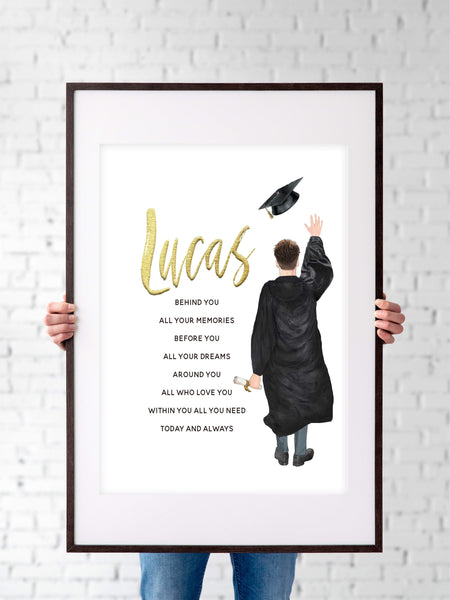 Graduation Gifts For Him | Graduation Poem Print | Ollie + Hank