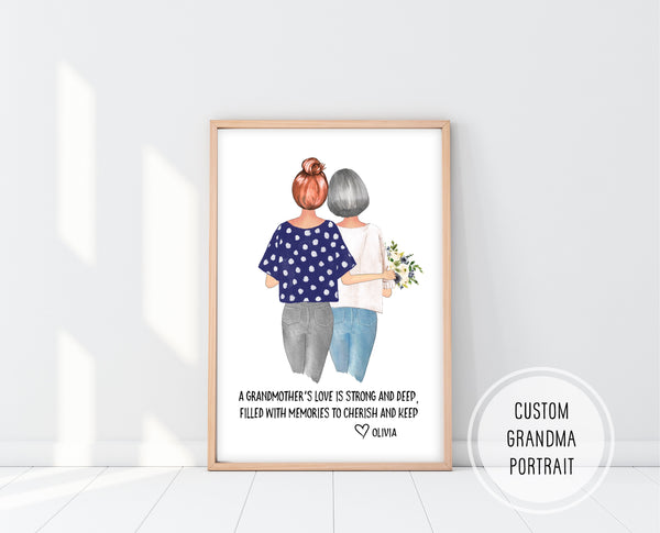 Grandma Gifts For Mothers Day | Custom Grandma Gift | Ollie + Hank