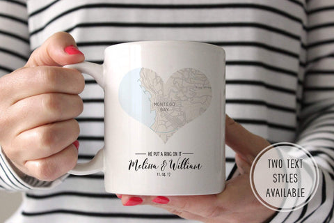 Personalized Heart Map Mug | Ollie + Hank