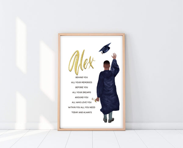 High School Graduation Gifts For Him | Graduation Poem Print | Ollie + Hank
