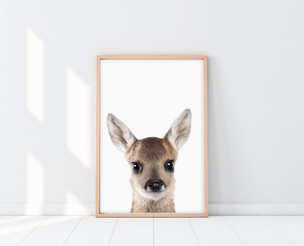 Little Fawn Nursery Art | PeekABoo Deer Print | Ollie + Hank