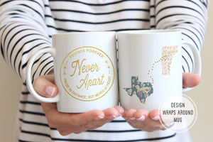 Long Distance Friendship Gifts | Friends Forever Mug | Ollie + Hank