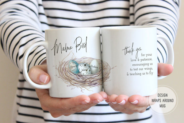 Mama Bird Mug | Gift For Mom From Kids | Ollie + Hank