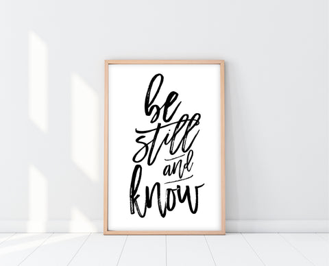 Meditation Room Decor | Be Still And Know Print | Ollie + Hank