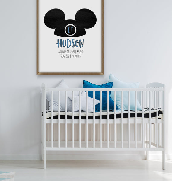 Mickey Mouse Nursery Decor | Mouseketeer Print | Ollie + Hank
