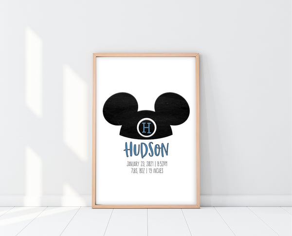 Mickey Mouse Wall Decor | Mouseketeer Print | Ollie + Hank