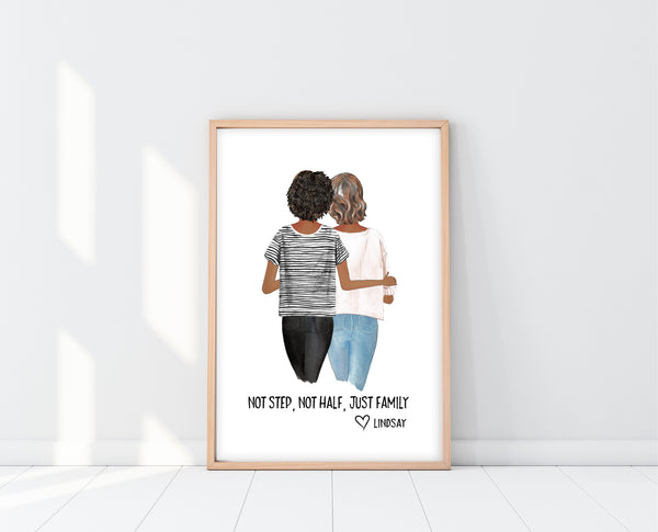 Mothers Day Gift For Step Mom | Step Mom Print | Ollie + Hank