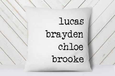 Mothers Day Gift For Grandma | Personalized Family Names Pillow | Ollie + Hank