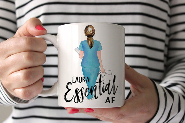 Mug For Nurse | Personalized Gift For Nurse | Essential AF Mug