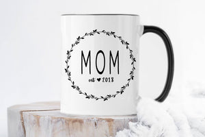 New Mom Gifts | Mom Est Mug | Ollie + Hank