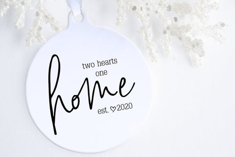 New Home Gift Ideas | Two Hearts One Home Ornament | Ollie + Hank