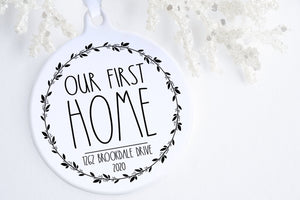 New Home Gift | Our First Home Ornament | Ollie + Hank