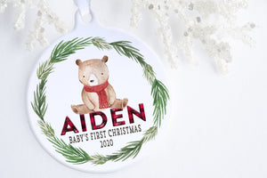 Ornament For Baby's First Christmas | Little Bear Ornament | Ollie + Hank  Edit alt text