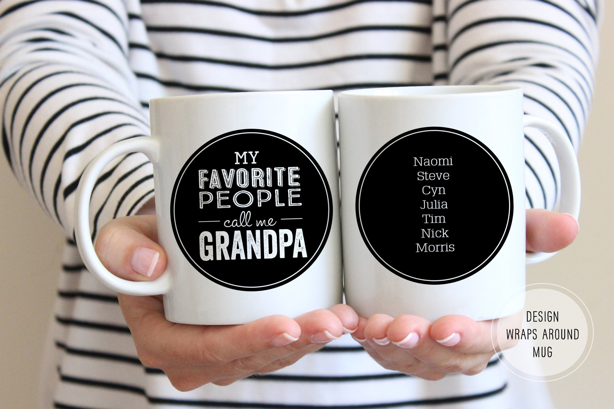 Personalized Grandpa Gift | My Favorite People Call Me Grandpa Mug | Ollie + Hank