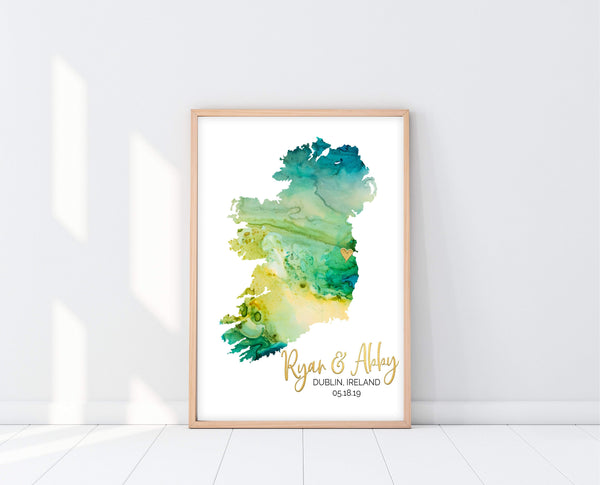 Personalized Map Print | Watercolor Map | Ollie + Hank