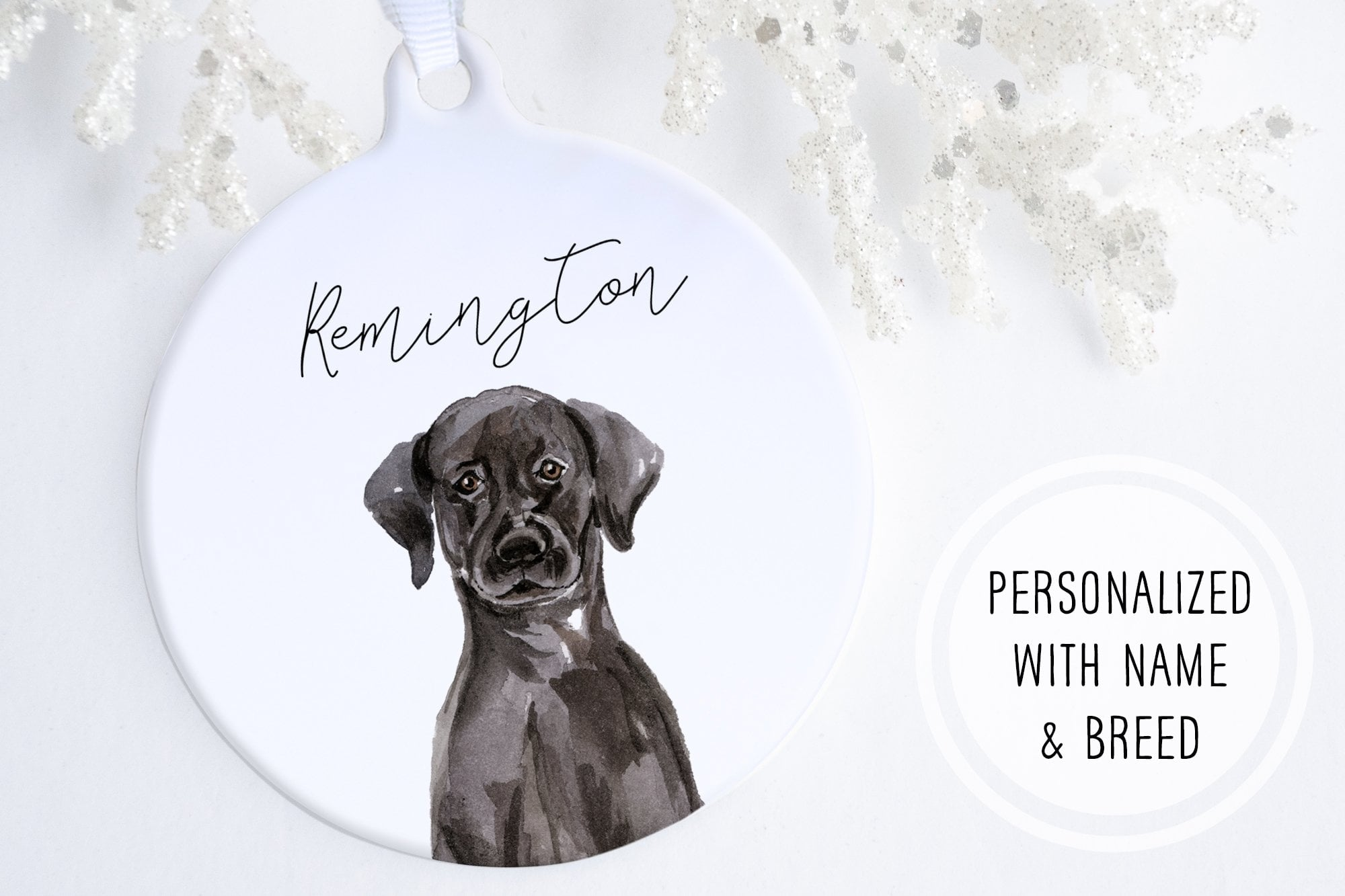 Personalized Dog Ornament | Ollie + Hank