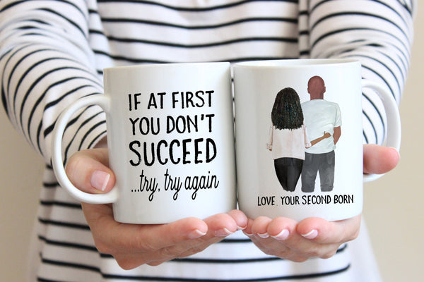 Personalized Gifts For Dad From Daughter | Try Try Again Mug | Ollie + Hank