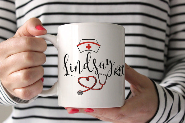Personalized Nurse Mug | Nurse Graduation Gift | Ollie + Hank