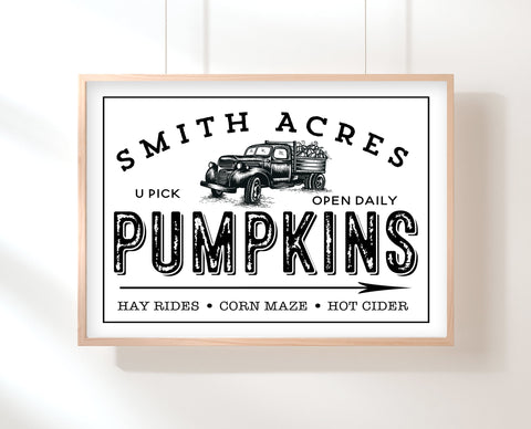 Sign For Fall | Pumpkin Patch Sign | Ollie + Hank