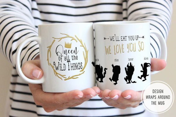 Mom Of Boys Gift | Queen Of All The Wild Things Mug | Ollie + Hank