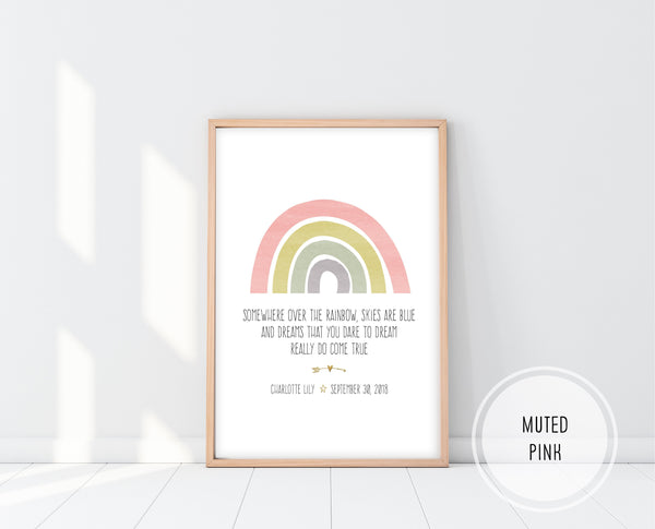 Rainbow Baby Gifts | Somewhere Over The Rainbow Print | Ollie + Hank