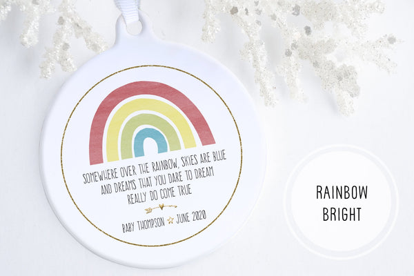 Rainbow Baby First Christmas Ornament | Rainbow Baby Ornament | Ollie + Hank