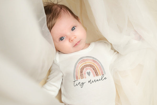 Rainbow Baby Girl Outfit | Tiny Miracle Onesie | Ollie + Hank