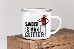 Sawdust Man Glitter Mug | Funny Mugs For Men | Ollie + Hank
