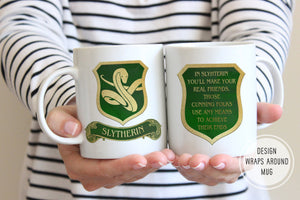 Harry Potter Coffee Mug | Slytherin Mug | Ollie + Hank