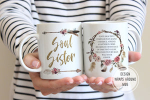 moving away gift for friend soul sister mug ollie hank