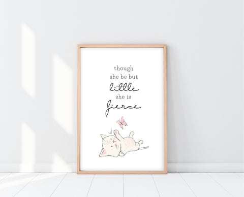 Thought She Be But Little She Be Fierce Wall Art | Ollie + Hank