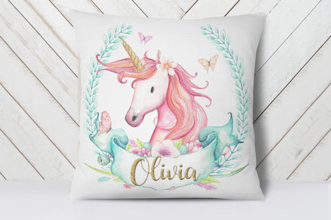 Personalized Unicorn Pillow | Ollie + Hank