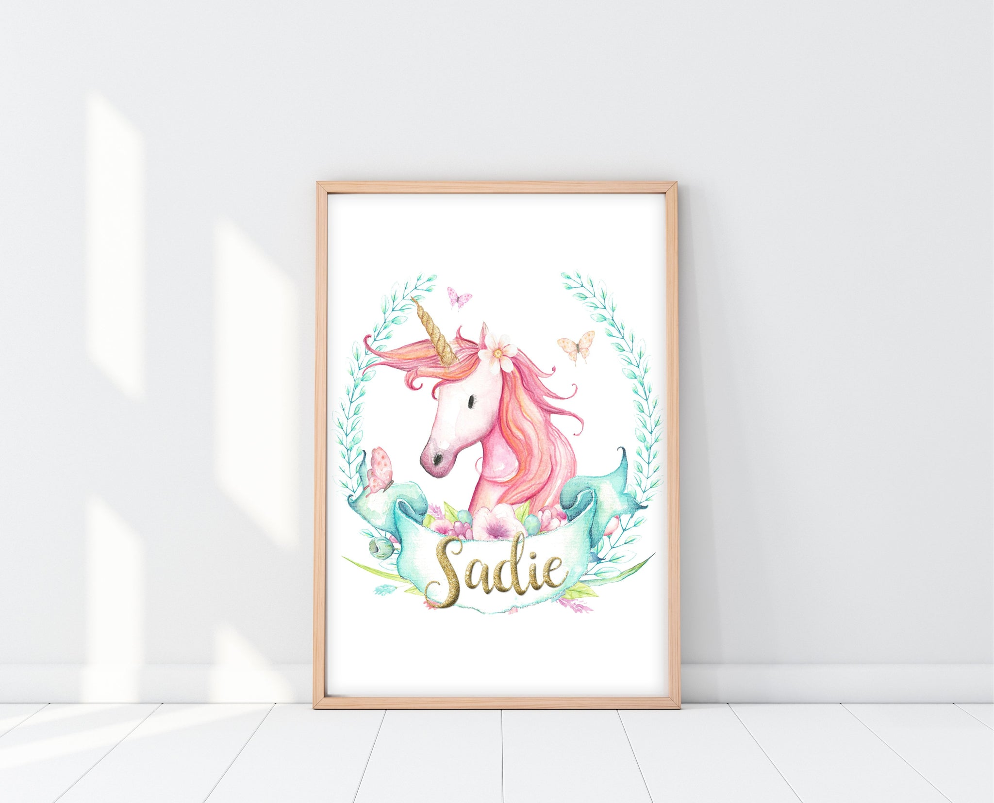 Unicorn Wall Decor | Personalized Unicorn Print | Ollie + Hank