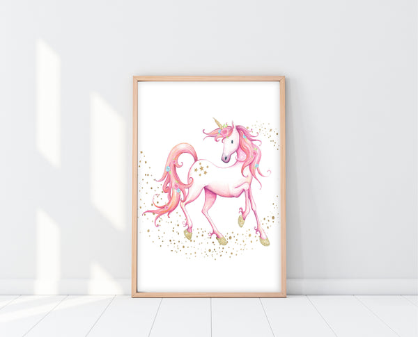 Unicorn Wall Art | Unicorn Rainbow Print Set | Ollie + Hank