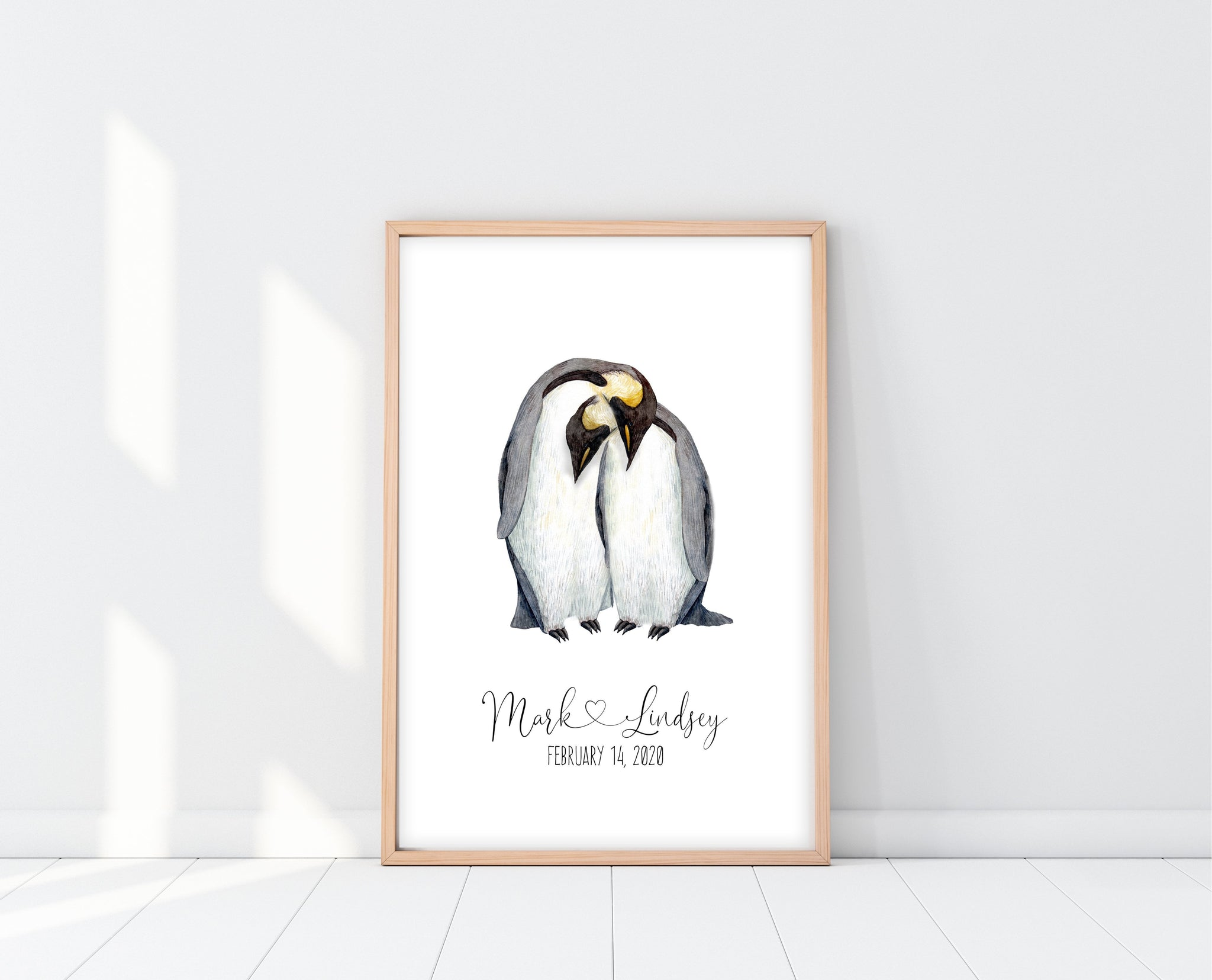 Valentines Day Gifts For Her | Penguin Love Print  | Ollie + Hank