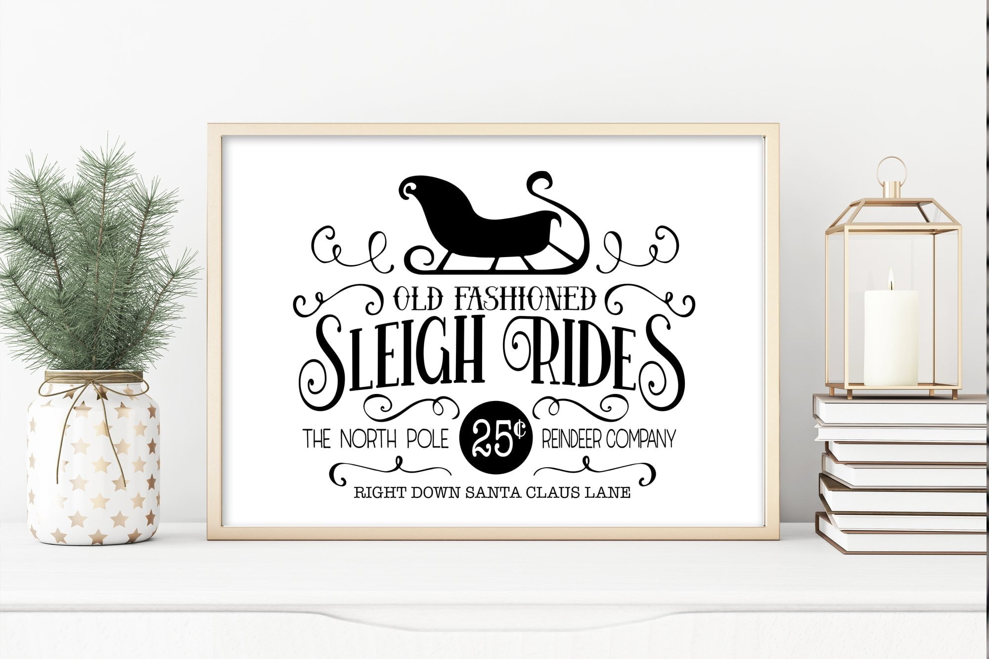 Wall Art For Christmas | Sleigh Rides Sign | Ollie + Hank