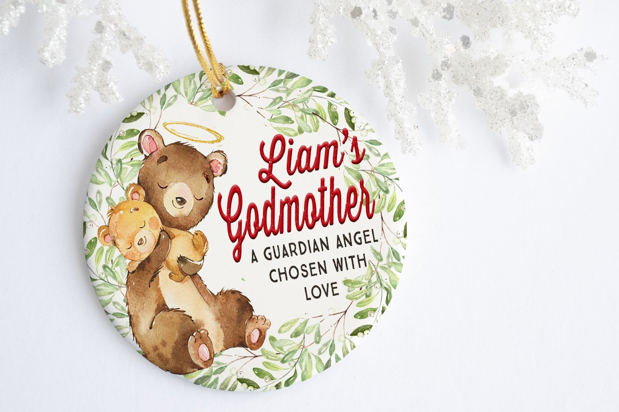 Will You Be My Godmother Gift | Godmother Guardian Angel Ornament | Ollie + Hank