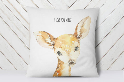 Woodland Animals Nursery | I Love You Dearly Pillow | Ollie + Hank