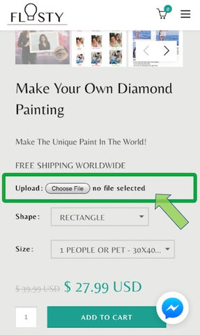 How to convert your photo into a 5d diamond painting - 01