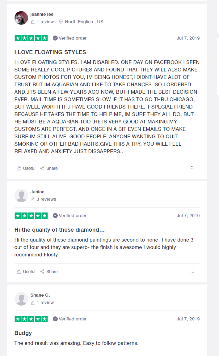 Trustpilot FloatingStyles Reviews