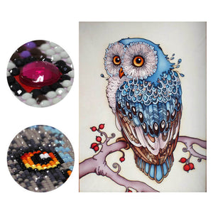 Diamantmalerei - Magic Snowy Owl - Floating Styles - Diamantstickerei - Malen mit Diamant