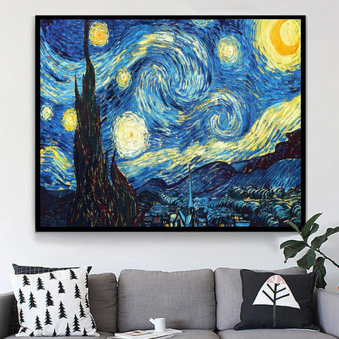 Obraz Diamond Painting - Van Gogh The Starry Night - Floating Style - Diamond Haft - Paint With Diamond