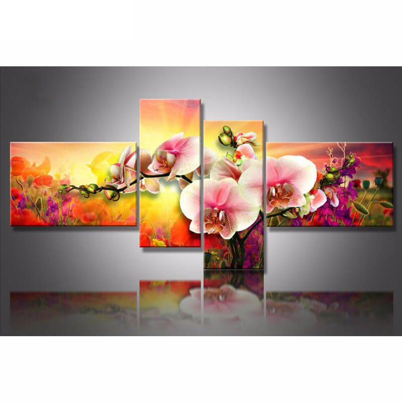 5 Panels Diamond Painting - Calla Flower - Floating Styles - Diamond Embroidery - Paint With Diamond