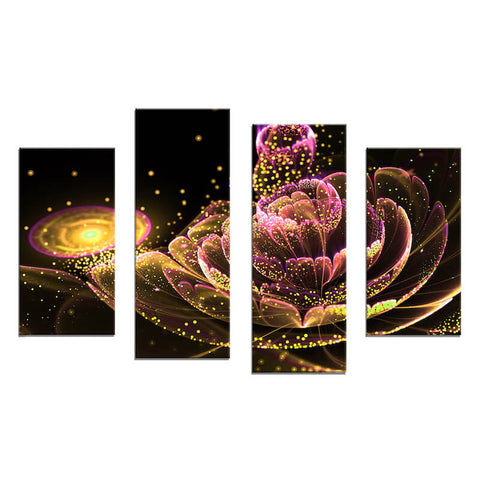 5 Panels Diamond Painting - A Heaven In A Wild Flower - Floating Styles - Diamond Embroidery - Paint With Diamond