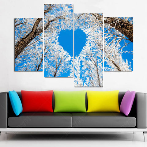 Immagine di 5 Panels Diamond Painting - Shape Of Love - Stili fluttuanti - Diamond Embroidery - Paint With Diamond