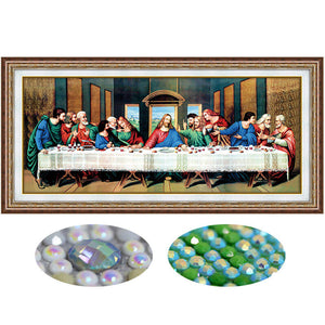 Diamond Painting - The Last Supper (Partial Pasting Area) - Drijvende stijlen - Diamond Embroidery - Paint With Diamond