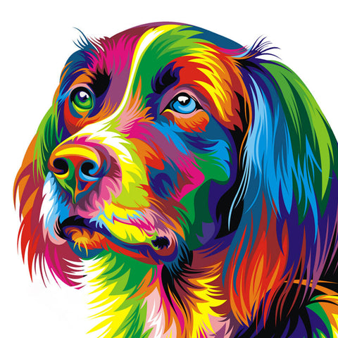 Immagine di Diamond Painting - Rainbow Retriever - Stili fluttuanti - Diamante Ricamo - Dipingi con diamante