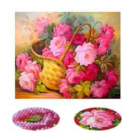 Diamond Painting - A Basket Of Flower - Floating Styles - Diamond Embroidery - Paint With Diamond