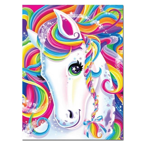 Image of Diamond Painting - Licorne Fantaisie - Styles Flottants - Broderie Diamant - Peindre avec un diamant